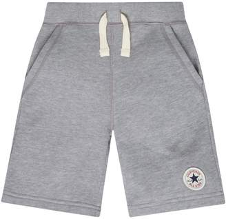 b654b73662f02f Converse Boys 4-7 French Terry Chuck Taylor Patched Shorts