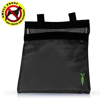 Discreet Smoker 7x6 Smell Proof Bag Dog Tested (black)
