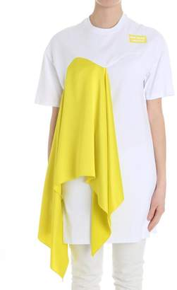 MSGM Drape Detailed T-shirt Dress