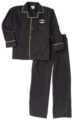 Batman Boy's Coat Front 2 Piece Pajama Sleep Set