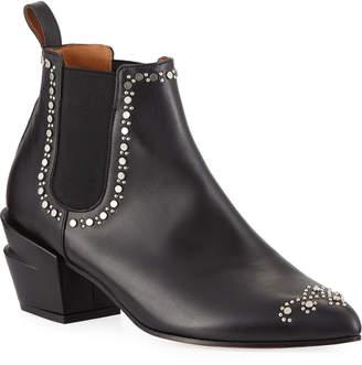 Robert Clergerie Alcazar Studded Leather Booties