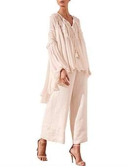 Shona Joy Rafaella Oversized Blouse With Trim Inserts