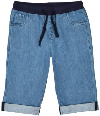 La Redoute COLLECTIONS Denim Bermuda Shorts with Elasticated Waist, 3-12 Years