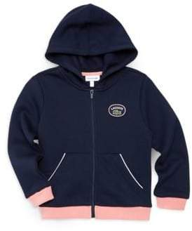 Lacoste Little Girl's& Girls Badge Zip Hoodie