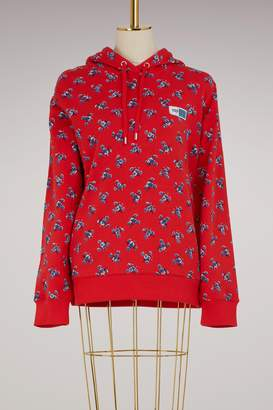 Kenzo Cotton hoodie sweat with flowers