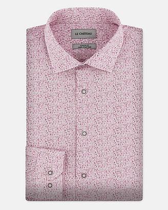 Le Château Abstract Print Cotton Poplin Shirt