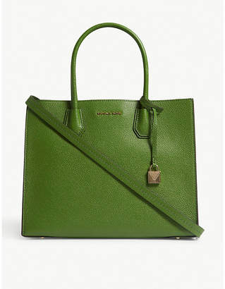 MICHAEL Michael Kors Michael Kors True Green Grained Timeless Mercer Leather Tote Bag