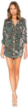 Pam & Gela Camo Shirt Dress With Corset