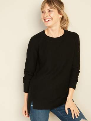 Old Navy Textured-Stitch Boat-Neck Tunic Sweater for Women