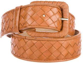 Bottega VenetaBottega Veneta Leather Intrecciato Belt
