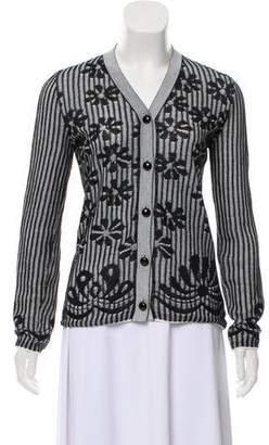 Bottega Veneta Floral Patterned Button-Up Cardigan