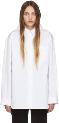 Balenciaga White Swing Collar Shirt