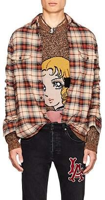 Gucci Men's Paramount Plaid Cotton Flannel Shirt - Beige, Tan