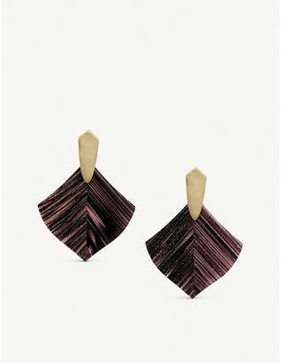Kendra Scott Astoria 14ct gold-plated brass and dusted glass earrings