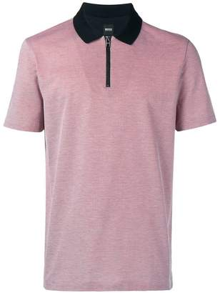 HUGO BOSS contrast collar polo shirt