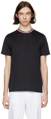 Moncler Black Tricolor Collar T-Shirt