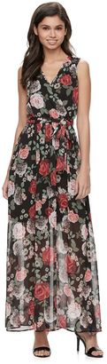 Disney's Beauty and the Beast Juniors' Floral Surplice Maxi Dress $58 thestylecure.com