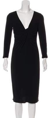Armani Collezioni Midi Long Sleeve Dress
