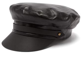 Lola Hats - Leather Sailor Cap - Womens - Black