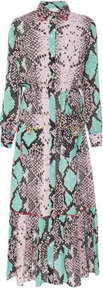 Stella Jean Snake-Print Jersey Midi Dress