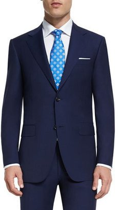Canali Sienna Contemporary-Fit Solid Two-Piece Travel Suit, Navy $852 thestylecure.com