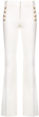 Derek Lam 10 Crosby Robertson Flare Trouser with Sailor Buttons