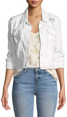 Paige Vivienne Button-Front Denim Jacket