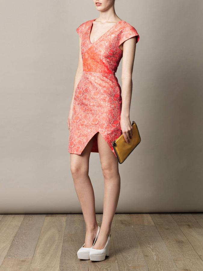 Richard Nicoll Triangle sleeve jacquard dress