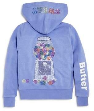 Butter Shoes Girls' Embellished Fleece Gumball Hoodie, Little Kid - 100% Exclusive