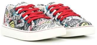 Little Marc Jacobs multi print sneakers