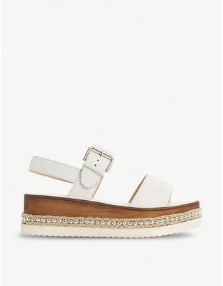 Dune Kool stud flatform leather sandals