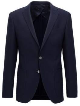 BOSS Hugo Textured Wool Sport Coat, Extra Slim Fit Raye 38R Dark Blue