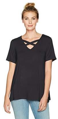 Sag Harbor Women's Short Sleeve X-Neck Tee