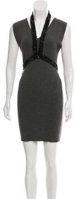 Balmain Wool Embellished Dress