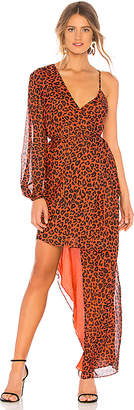 Michelle Mason Asymmetrical Wrap Dress