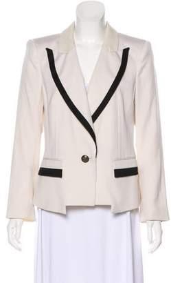 Rachel Zoe Wool Long Sleeve Blazer