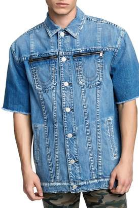 True Religion Short Sleeve Denim Trucker Jacket