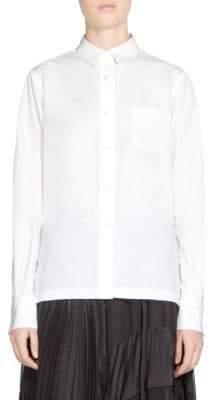 Sacai Button-Front Lace Shirt