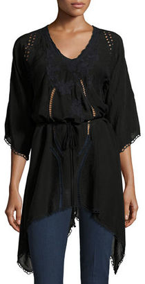Johnny Was Rose Garden Embroidered Handkerchief Tunic $135 thestylecure.com
