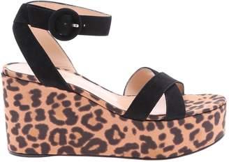 18fc890aef291 Gianvito Rossi Leopard Print Wedge Sandals