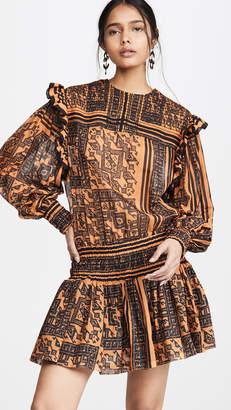 Philosophy di Lorenzo Serafini Patterned Ruffle Trim Dress