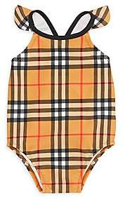 Burberry Baby's & Little Girl's Check One-Piece Swimsuit