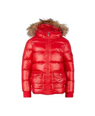 Pyrenex Authentic Shiny Fur Trim Jacket