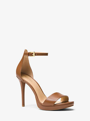Michael Kors Hutton Leather Sandal