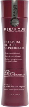 Keranique Curl Preserve Nourishing Keratin Conditioner For Curly, Textured Hair