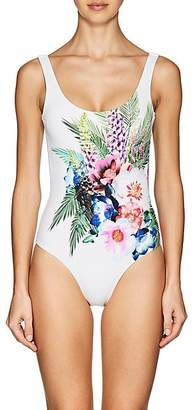 Onia WOMEN'S KELLY FLORAL ONE-PIECE SWIMSUIT - WHITE SIZE XL
