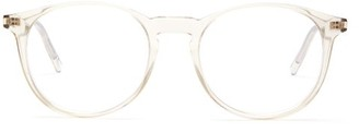 Saint Laurent Round Acetate Glasses - Mens - Beige