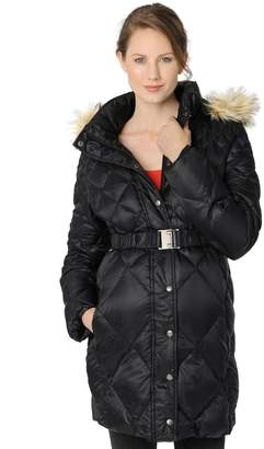 A Pea in the Pod Quilted Hooded Maternity Puffer Coat
