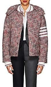 Thom Browne Women's Down Wool-Blend Tweed Puffer Coat-Red