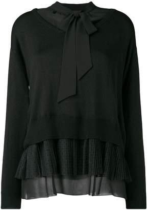 Twin-Set bow tie layered jumper